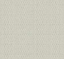 Wallpaper Designer Modern Geometric Black & Metallic Silver Mini Grid on Cream