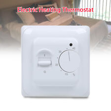 Electric Floor Heating Thermostat Temperature Control Switch White For Home use