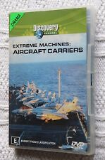 EXTREME MACHINE : AIRCRAFT CARRIERS (DVD) R-4, LIKE NEW, FREE POST IN AUSTRALIA