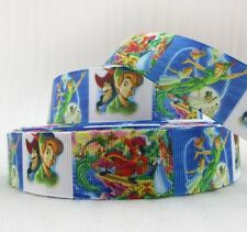 "BTY 1"" Disney Peter Pan Grosgrain Ribbon Hair Bows Scrapbooking Lanyards Lisa"