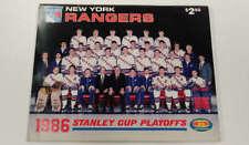 New York Rangers vs Washington Capitals Stanley Cup Hockey 1986 Program J73493