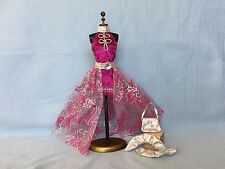 "Barbie Doll Fashion ""European Magenta 2 in 1 Style"" Outfit Set - Mattel 1990s"