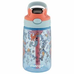 2 Pack Contigo Kids Water Bottle AUTOSPOUT Straw,14 oz Mermaids