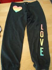 Victoria Secret Super Model Essentials ombre VS sequin Gray bling heart Pants S