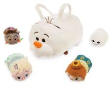 NEW Tsum Tsums Frozen Fever Olaf Bag Olaf + 4 Minis Anna Elsa Sven Snowgie