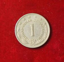 Münze Coin Jugoslawien Jugoslavija 1 Dinar Dinara 1974 (G7)