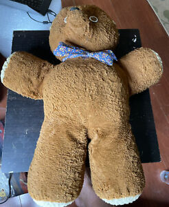 Antique Teddy Bear with Bow 27 inches