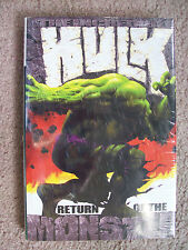 # 502 Incredible Hulk:Return Of The Monster Hardcover 2002 by Bruce Jones Marvel