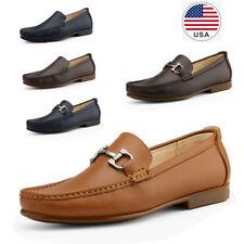 Men's Moccasin Loafer Shoes Lightweight Casual Slip On Comfort Dress Shoes