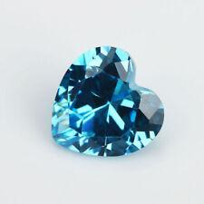 6X6mm AAAAA Sea Sapphire Gems 1.17ct Heart Faceted Cut VVS Loose Gemstone