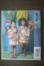 """McCall's Sewing Pattern Toddler's Dress & 18"""" Doll's Dress Size 6-7-8"""