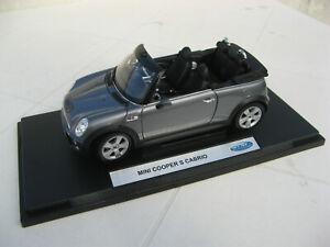 Mini Cooper S cabrio / jouet 1/18 Welly