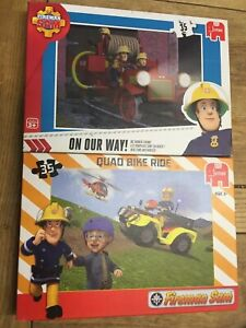 Fireman Sam Jigsaw Puzzle X2 'on our way' and 'quad bike ride'