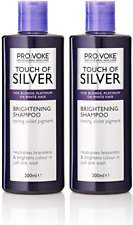 2x Provoke Touch Of Silver Brightening Shampoo Grey, White Blonde Hair 200ml