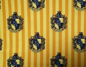 FAT QUARTER HARRY POTTER Hufflepuff House Fabric COTTON Crafts Quilting Sewing