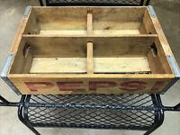 Vintage Pepsi Cola Wood Soda Pop Flat Crate Box Advertising