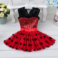 Girl Minnie Mouse Polka Dotted Tutu Skirt Princess Ladybug Party Dress [K37]