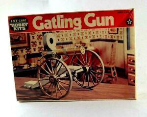 Life Like Hobby Kits Gatling Gun Cannon 09693 Plastic Model Kit SEALED NOS Vtg