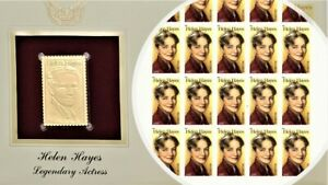2011 Helen Hayes Sheet & Golden Replica FDC Stamps MNH SC #4525