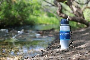 NEW Seychelle Radiological Filter Water Bottle ~ Clean Water Travel Tumbler 28oz