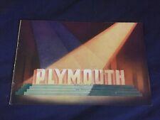 1936 Plymouth Speciale Deluxe Grande Colore Brochure Catalogo Prospetto