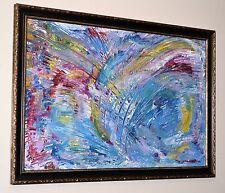 """""""Hallelujah II"""" Cohen Original Abstract Painting 27"""" x 39"""" GREGORY HUGH LENG"""