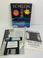 Vintage IBM PC/Tandy Game ECHELON 3D Space Flight Simulator - Access 1988 3.5""