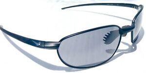 NEW* NIKE REVOLVE Black Metal Wire Max Optics Grey Golf Sunglass EV0276 002