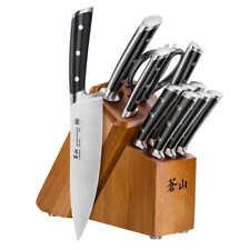 Cangshan S1 Series 12-piece FORGED GERMAN STEEL Knife Set WOOD BLOCK Black