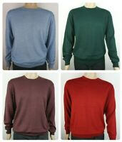 Men`s Branded Wool Blend Crew Neck Jumper Size S-M-L-XL-2XL-3XL Sweater