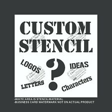 Custom Stencil - Your Logo - Reusable, Flexible Plastic Stencil, Many Sizes