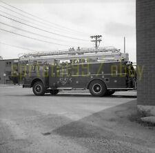 KFD Kingston Fire Department - Fire Engine - Vintage Truck Negative