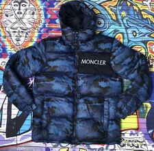 MONCLER Man Blue Padded Hooded Winter Jacket Coat Size XXL 2Xl