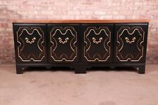 Baker Furniture Hollywood Regency Chinoiserie Sideboard Credenza or Bar Cabinet