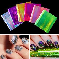 6Blatt Holo Starry Nagelfolie Nail Art Folie Nagel Transfer Stickers Maniküre