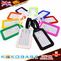 Luggage Tags Holiday Suitcase Baggage Travel ID Tag with Straps & Address Label