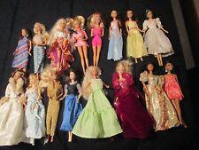 Lot of 16 Vintage Barbie Dolls Barbie's w Clothes