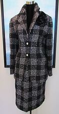 RODIER PARIS Boucle Suit Black & White Houndstooth 44/46 L/XL
