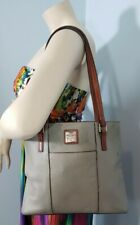 DOONEY & BOURKE Gray Pebble Leather Small Lexington Shopper Tote Bag Purse