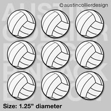 "(12) VOLLEYBALL 1.25"" pinback buttons / badges - team gift pins"