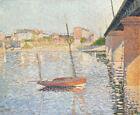 Paul Signac Bridge in Asnieres Fine Art Print CANVAS Giclee Decoration Painting
