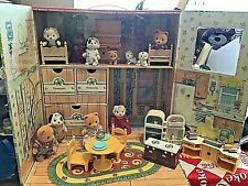 Calico Critters Of Cloverleaf Corners Doll House W/ Mice,clothes,furniture