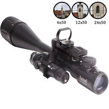 6-24X50 Hunting Tactical Rifle Scope with Holographic Sight Lens & Green Laser