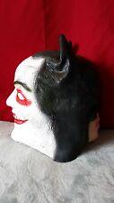 Rare Vintage 2 sided faces Batman & Joker Head Halloween Mask Jack Nicholson vtg