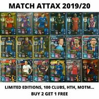 MATCH ATTAX 2019/20 19/20 100 CLUB LIMITED EDITIONS HAT TRICK HERO, 2+1 FREE!