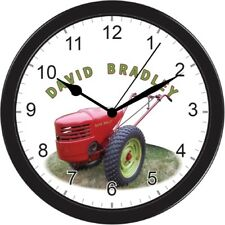 DAVID BRADLEY TRI TRAC TRICYCLE TRACTOR LARGE BLACK WALL HANGING CLOCK
