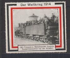 German Poster Stamp Welt Weltkrieg 1914 Train
