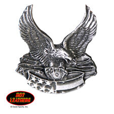 Pewter Badge Eagle V Twin Engine Motorcycle Biker Cruiser Made In U.S.A