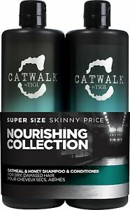 TIGI Catwalk Oatmeal and Honey Shampoo & Conditioner 750ml | Duo / Tween