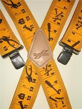 """Para Hombre Tirantes Amarillo Cinta Métrica Diseño Brimarc Heavy Duty 2"""" 50mm de ancho"""